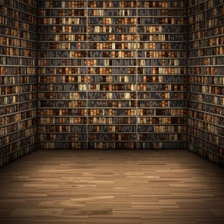 estanterias: Una imagen de un fondo de la biblioteca de Niza Foto de archivo