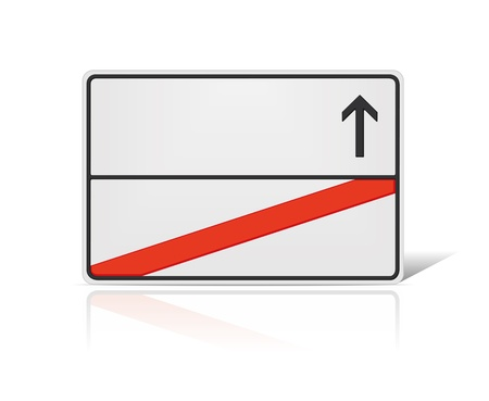 blank road sign: An image of a blank road sign