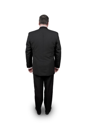 indifferent: An image of a man in a black suit Stock Photo