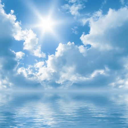 sky scape: An image of a bright sun background