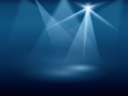 film star: A blue background image of stage lights