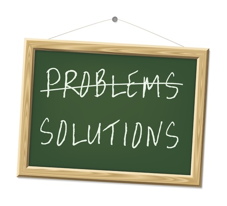 A chalk board with the words problems and solutions Stock Photo - 8923408