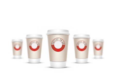 A coffee cup vector illustration with the words coffee to go Stock Illustration - 8923475