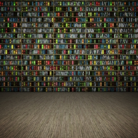 Ein Beispiel für ein Zimmer mit Büchern Standard-Bild - 8923473