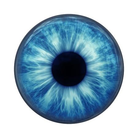 Une image d'un verre de boule d'oeil bleu