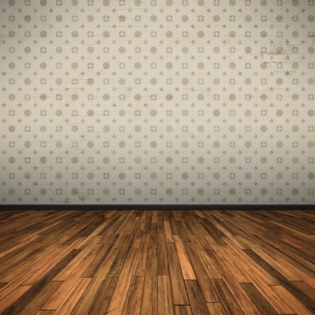 room wallpaper: An image of a nice old floor for your content Stock Photo