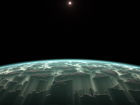 An image of a deep space planet background photo