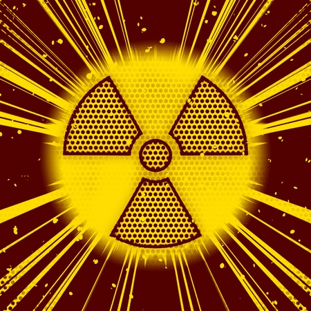 An image of a radioactive sign explosion photo