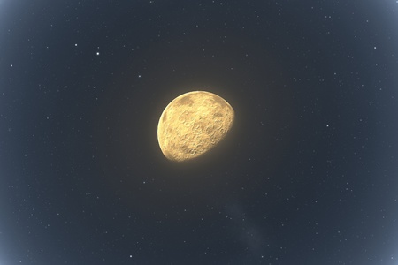 An image of the moon and stars photo