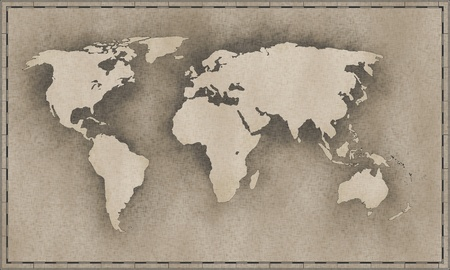 An image of a vintage world map photo