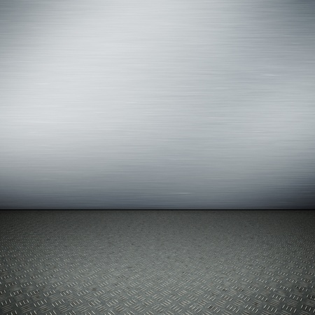 empty surface: An image of a nice steel floor for your content Stock Photo