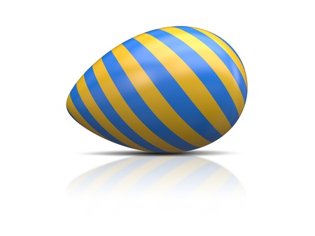 An image of a blue yellow easter egg photo
