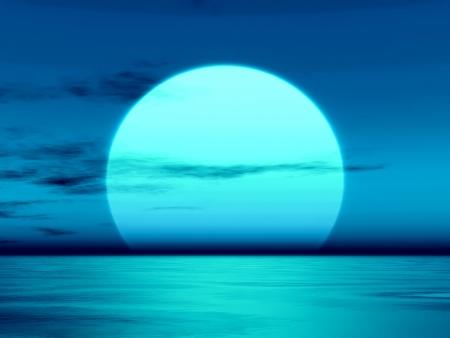 horizonte: Una imagen de una hermosa puesta de sol sobre el Oc�ano