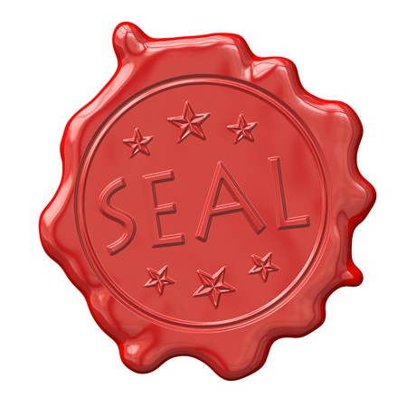 An image of a red seal of wax Stock Photo - 9361282