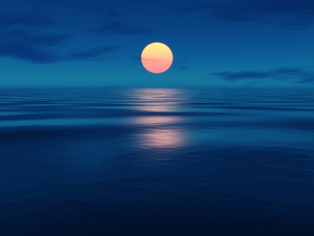 peaceful: An image of a beautiful sunset over the ocean