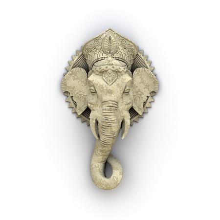 ganesh: Una imagen de una escultura de elefante hermosa Foto de archivo