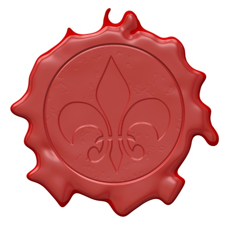 An image of a red seal of wax photo