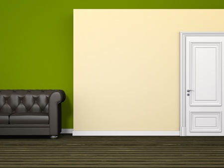 An image of a green room background Stock Photo - 9391030