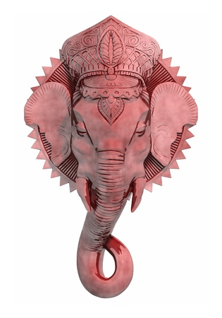 god figure: An image of a beautiful red ganesh sculpture