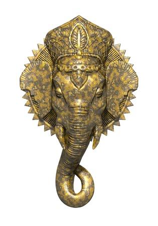 ganesh: Una foto de una hermosa ganesh oro