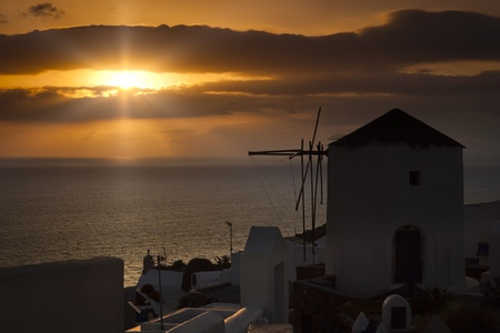 An image of a nice sunset in Santorini Stock Photo - 9513632
