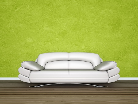 An image of a nice cream sofa Stock Photo - 9542501