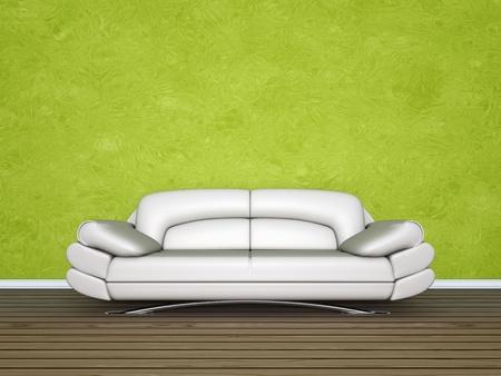 An image of a nice cream sofa Stock Photo - 9542501