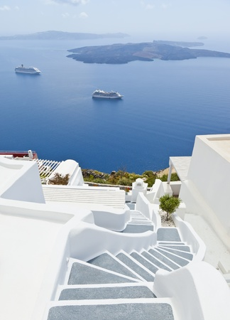 An image of Santorini island of Greece photo