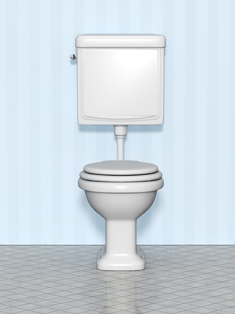 An image of a white standard wc Stock Photo - 9601675