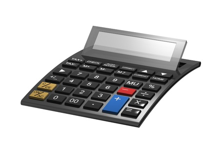 A typical calculator with space for your content Stock Photo - 9636779