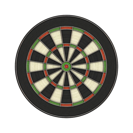 An image of a dartboard without numbers photo