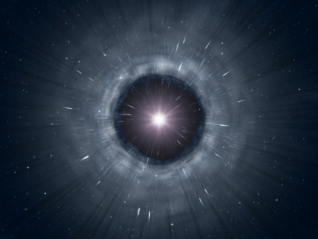 starlight: An image of a black hole background