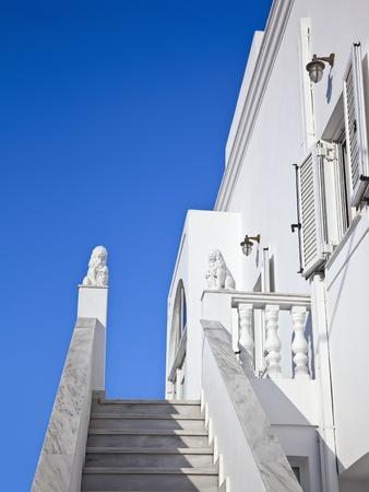 A nice Santorini house and the blue sky photo