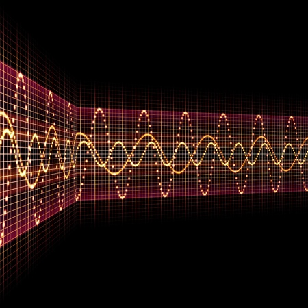 An image of a nice sound wave background