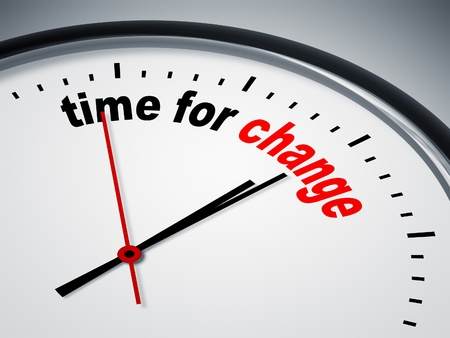 change business: An image of a nice clock with time for change