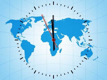 www concept: An image of a nice world clock