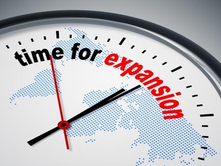 Een beeld van een mooie klok met de tijd voor uitbreiding Stockfoto