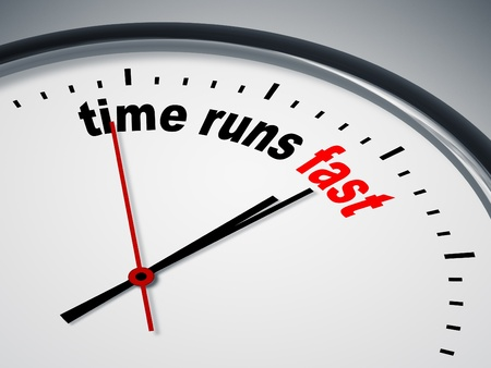 An image of a nice clock with time runs fast photo