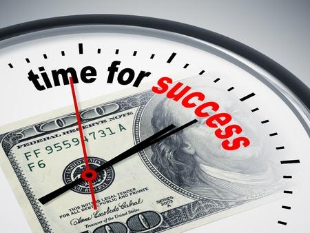verhogen: Een afbeelding van een mooie klok met tijd voor succes