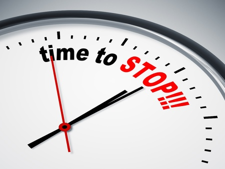 start up: An image of a nice clock with time to stop Stock Photo