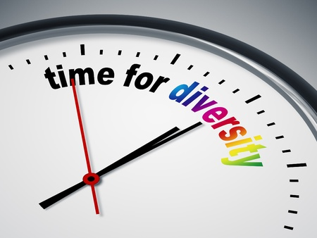 An image of a nice clock with time for diversity Stock Photo - 9749966