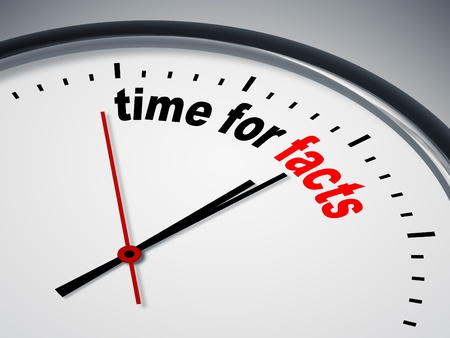 An image of a nice clock with time for facts photo