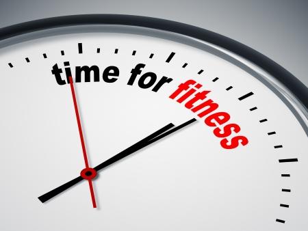 Een beeld van een mooie klok met de tijd voor fitness