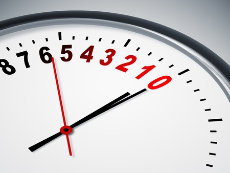 An image of a nice clock with a countdown Stock Photo - 9754965