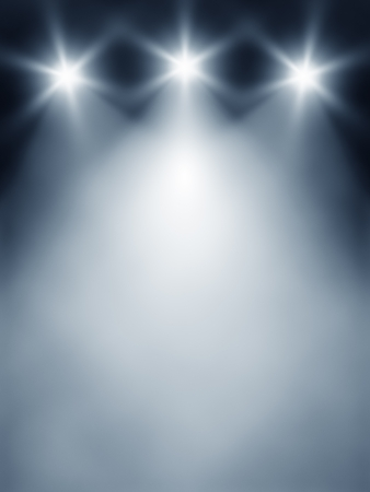 blue spotlight: An image of a three lights stage