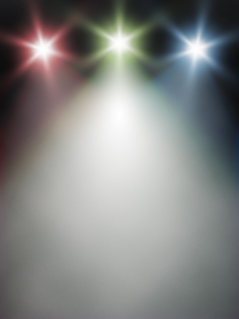 An image of a red green blue light on stage photo