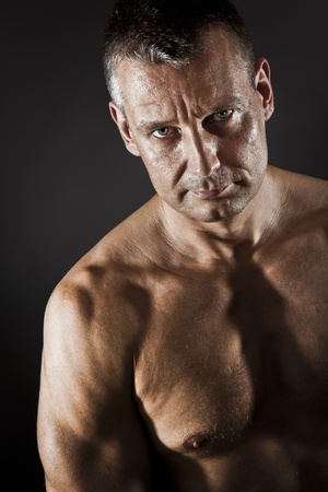 strong light: An image of a strong middle age man