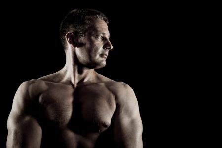 hombre fuerte: Una imagen de un hombre fuerte agradable