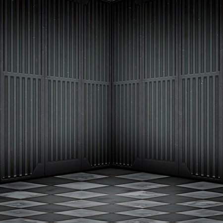 An image of a dark steel room photo
