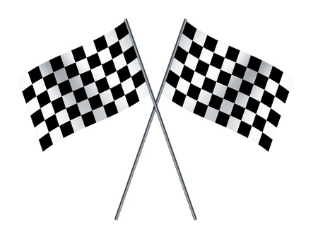 An image of two crossed formula1 flags photo